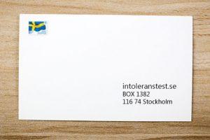 Skicka in i vanligt kuvert till angiven adress